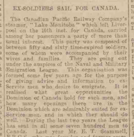 Western Times re soldiers going to Canada for blog